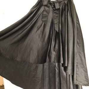 Black high-low VERY flowey skirt